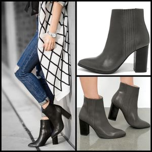 Seychelles grey leather accordion ankle boots  8